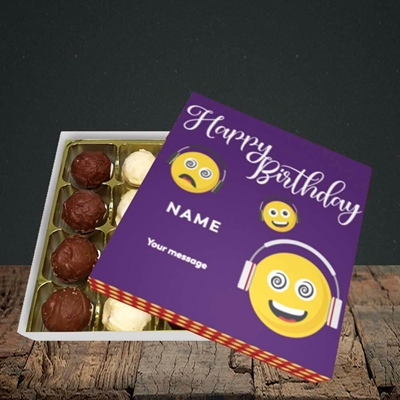 Picture of Smileys, (Without Photo) Birthday Design, Choc 16