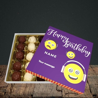 Picture of Smileys, (Without Photo) Birthday Design, Choc 25
