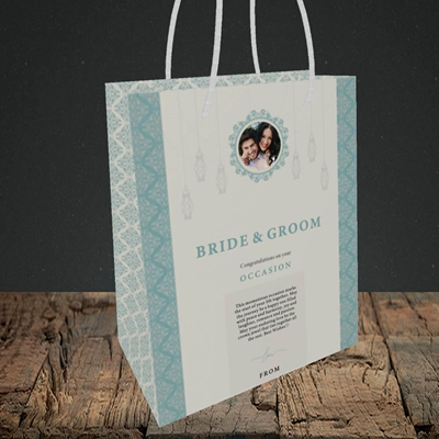 Picture of Moroccan Influences Teal B&G, Wedding Design, Small Portrait Gift Bag