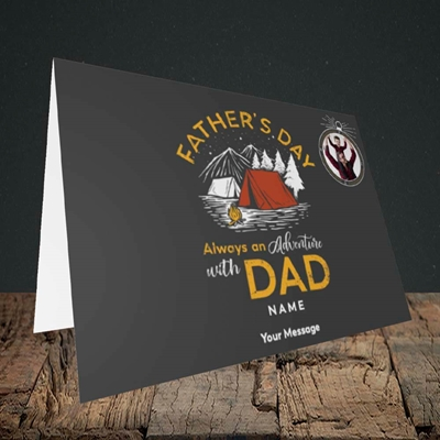 Picture of Adventure With Dad, Father's Day Design, Landscape Greetings Card