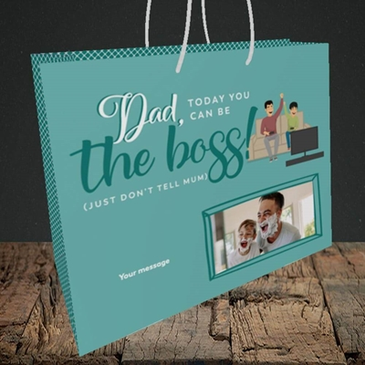 Picture of The Boss, Father's Day Design, Medium Landscape Gift Bag