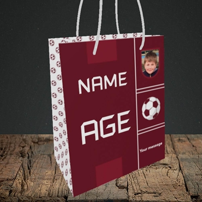 Picture of Footie Shirt, Birthday Design, Small portrait Gift Bag