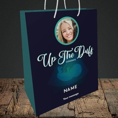 Picture of Up The Duff, Pregnancy Design, Medium Portrait Gift Bag