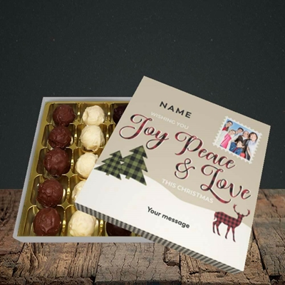 Picture of Joy Peace & Love, Christmas Design, Choc 25