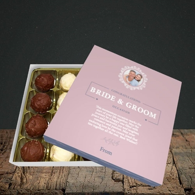 Picture of Traditional Foliage Pink B&G, Wedding Design, Choc 16