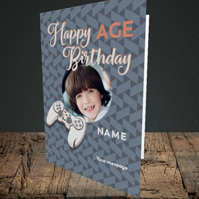 Picture of Gaming Control, Birthday Design, Portrait Greetings Card