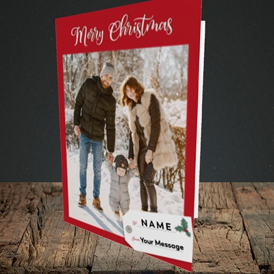 Picture of 1. A Merry Christmas, Large Photo, Christmas Design, Portrait Greetings Card