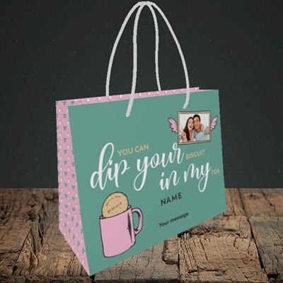 Picture of Dip Your... In My, Valentine's Design, Small Landscape Gift Bag
