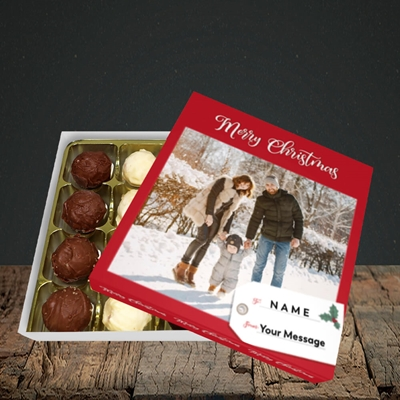 Picture of 1. A Merry Christmas, Large Photo, Christmas Design, Choc 16