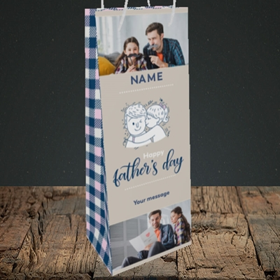 Picture of Father & Daughter, Father's Day Design, Bottle Bag