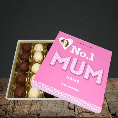 Picture of No.1 Mum (In Lights), Mother's Day Design, Choc 25
