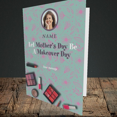 Picture of Makeover Day, Mother's Day Design, Portrait Greetings Card