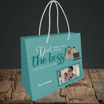 Picture of The Boss, Father's Day Design, Small Landscape Gift Bag