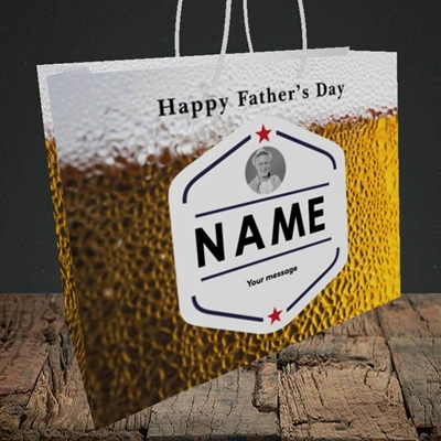 Picture of Premium Father, Father's Day Design, Medium Landscape Gift Bag