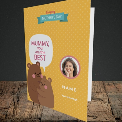 Picture of Mummy You Are The Best Bear, Mother's Day Design, Portrait Greetings Card