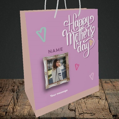 Picture of Happy Mother's Day, Mother's Day Design, Medium Portrait Gift Bag