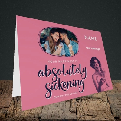 Picture of Absolutely Sickening, Wedding Design, Landscape Greetings Card