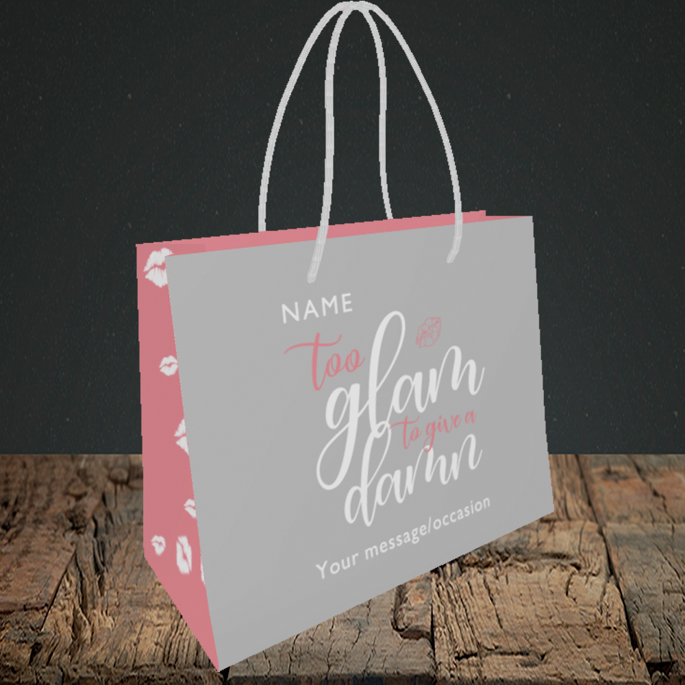 Glam Without Photo Birthday Design Small Landscape Gift Bag