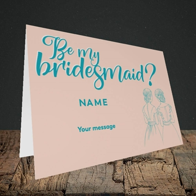 Picture of Be My Bridesmaid(Without Photo), Wedding Design, Landscape Greetings Card