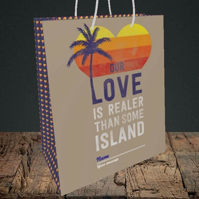 Picture of Our Love Is Realer(Without Photo), Valentine's Design, Medium Portrait Gift Bag