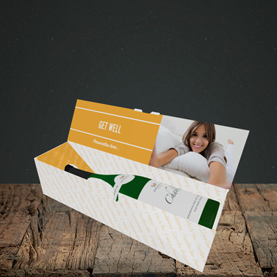 Picture of Photo, Get Well Design, Lay-down Bottle Box