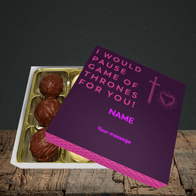 Picture of Game Of Thrones, (Without Photo) Valentine Design, Choc 9