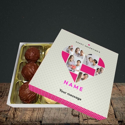 Picture of Heart Multi Photo, Valentine Design, Choc 9