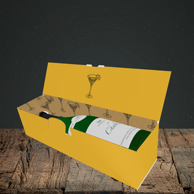 Picture of Hen, Engagement Design, Lay-down Bottle Box