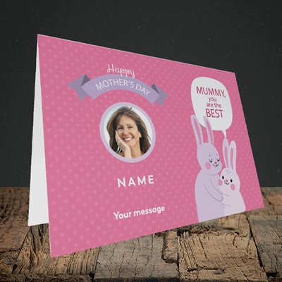 Picture of Mummy You Are The Best Bunny, Mother's Day Design, Landscape Greetings Card