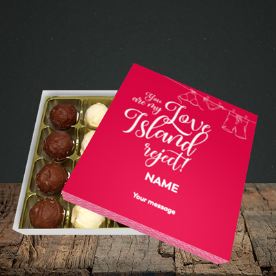 Picture of Love Island Reject, (Without Photo) Valentine Design, Choc 16