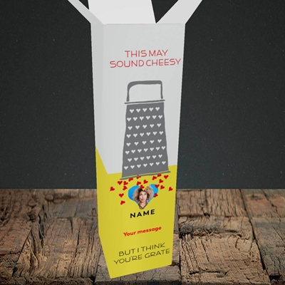 Picture of Cheesy Love, Valentine's Design, Upright Bottle Box
