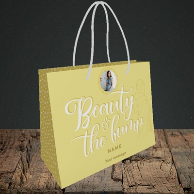 Picture of Beauty & The Bump, Pregnancy Design, Small Landscape Gift Bag