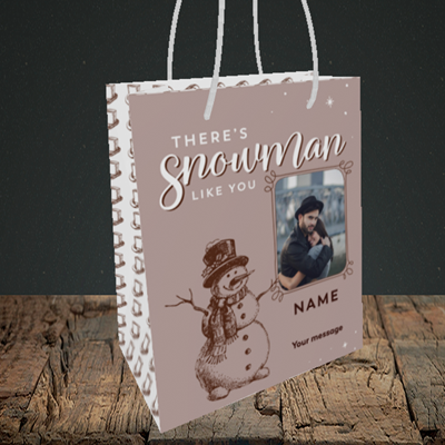 Picture of Snowman Like You, Christmas Design, Small Portrait Gift Bag