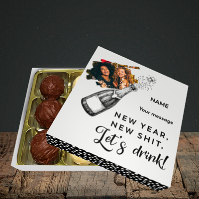 Picture of Let's Drink, New Year Design, Choc 9