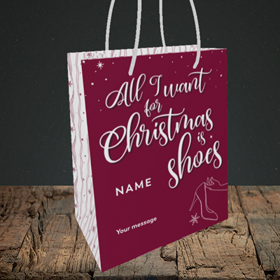 Picture of Christmas Shoes(Without Photo), Christmas Design, Small Portrait Gift Bag
