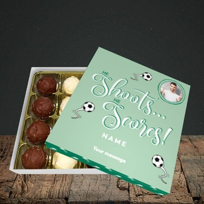 Picture of He Shoots He Scores, Pregnancy Design, Choc 16