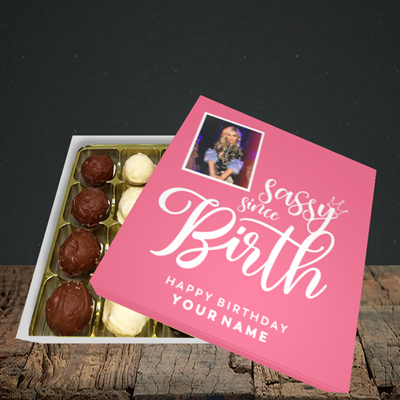 Picture of Sassy, Birthday Design, Choc 16