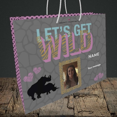 Picture of Let's Get Wild, Valentine's Design, Medium Landscape Gift Bag