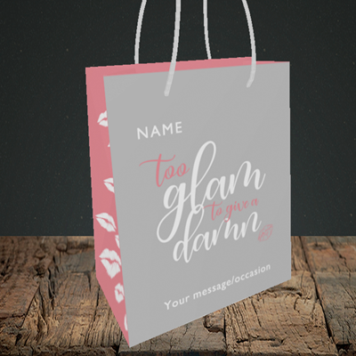 Picture of Glam, (Without Photo) Birthday Design, Small portrait Gift Bag