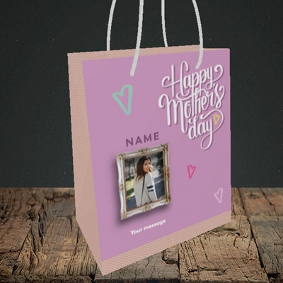 Picture of Happy Mother's Day, Mother's Day Design, Small Portrait Gift Bag