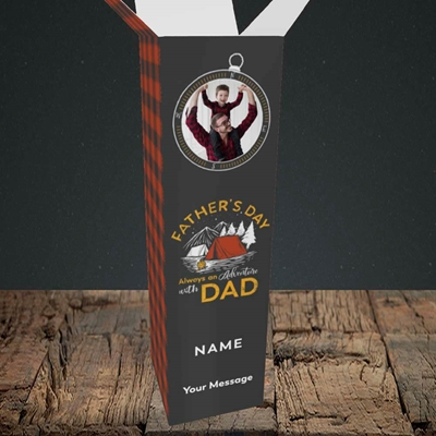 Picture of Adventure With Dad, Father's Day Design, Upright Bottle Box