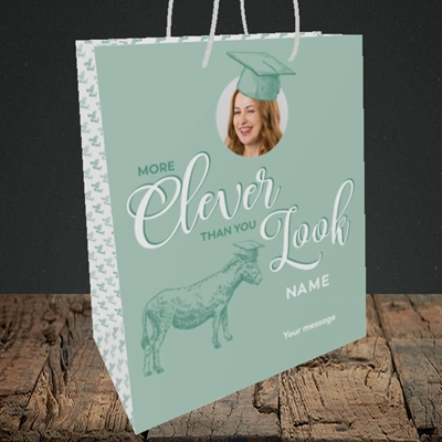 Picture of Clever, Graduation Design, Medium Portrait Gift Bag