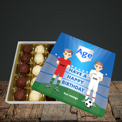 Picture of Football, (Without Photo and editable age) Birthday Design, Choc 25