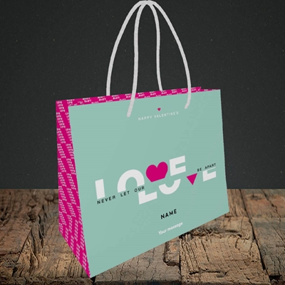Picture of Never Let Our Love Be Apart (Without Photo), Valentine's Design, Small Landscape Gift Bag