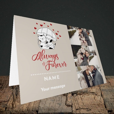Picture of Always & Forever, Valentine's Design, Landscape Greetings Card