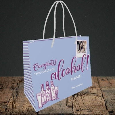 Picture of Calls For Alcohol, Celebration Design, Small Landscape Gift Bag