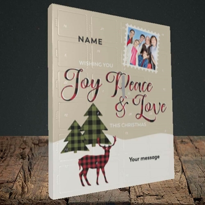 Picture of Joy Peace & Love, Truffle Advent Calendar