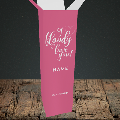 Picture of I Bloody Love You(Without Photo), Valentine's Design, Upright Bottle Box