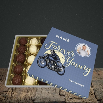 Picture of Forever Young (Motorbike), Birthday Design, Choc 25