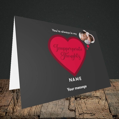 Picture of Inappropriate Thoughts, Valentine's Design, Landscape Greetings Card